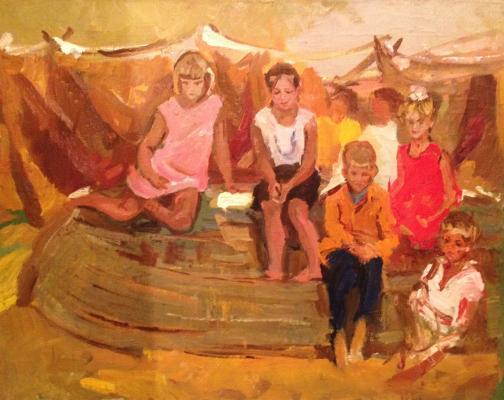"""Nefedova L. S. """"Children fishermen."""""""