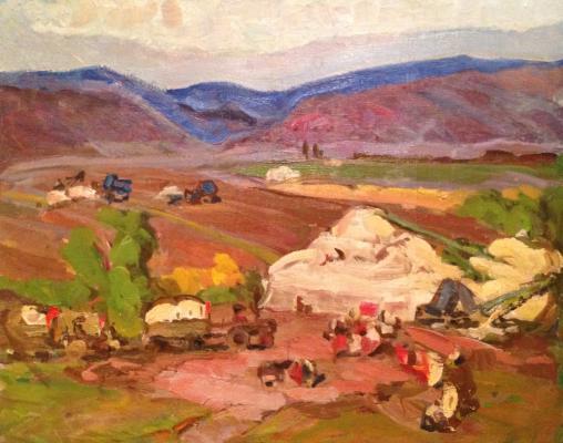 "Nefedova L. S. ""Picking cotton in Central Asia."""
