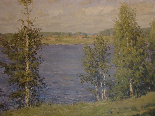 "Khaimov Y. M. ""Reservoir at Tishkovo."""