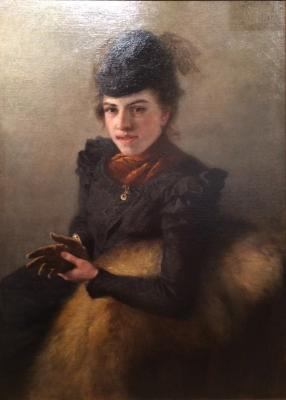"Myasoyedov G. G. ""Portrait of young woman."""