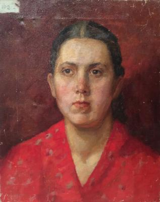 "Zhokhov V. P. ""Portrait of a woman in red."""