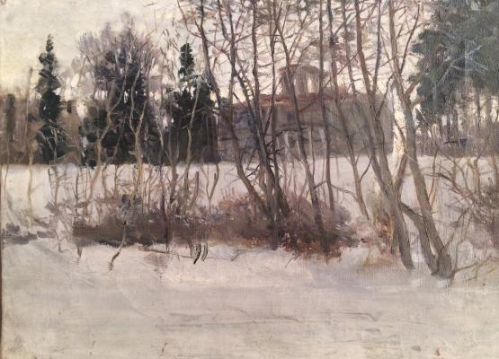 """Zhokhov V. P. """"Winter Landscape."""""""