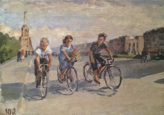 "Zhokhov V. P. ""Cyclists."""
