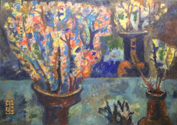 """Semenov-Amursky F. v. """"Still life with vases."""""""