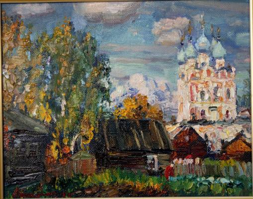 "Abakumov M. G. ""Indian summer in Solvychegodsk."""