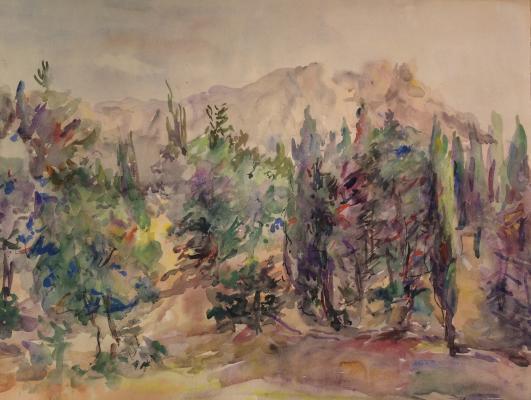 "Platov  ""Crimea. Cypresses."""