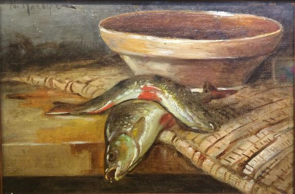 "Klever Y. Y. ""Still life with carp."""
