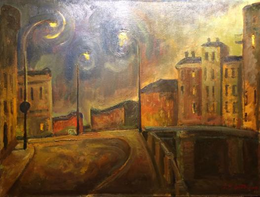 "Veydemanis E. K. ""Night in the Zamoskvorechie. Seriii of ""Moscow""."""