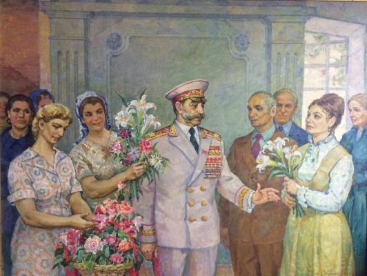 "Strakhov A. A. ""CM. Budenny state farm workers with Belaya Dacha """""