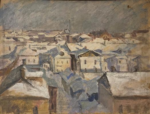 Захаров Павел Григорьевич. Московские крыши