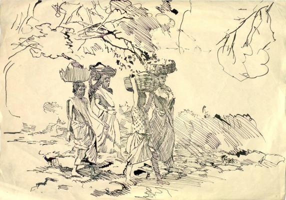 """Bantikov A. S. """"India. fruit pickers"""""""