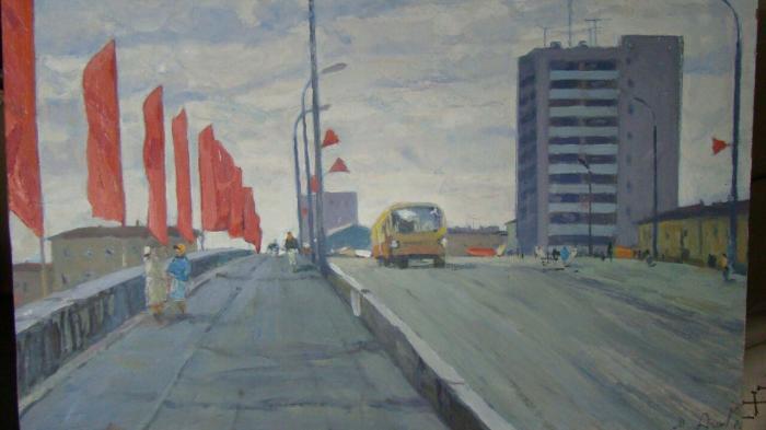 "Ageyev M. S. ""Ivanovo. Mineevsky Bridge."""