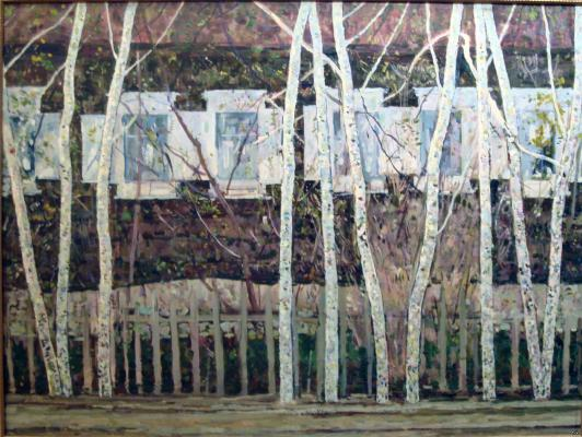 "Domashnikov B. F. ""Birch trees and windows."""