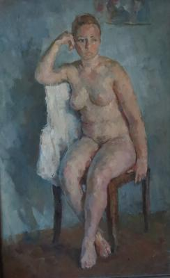 "Bogdanov A. N. ""Nude with a sheet"""