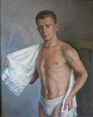 "Bogdanov A. N. ""After the battle,. In the locker room."""