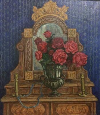 Телин Владимир Никитович. Натюрморт с розами.