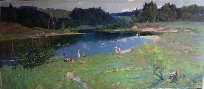 "Yablokov A. I. ""At the river"""
