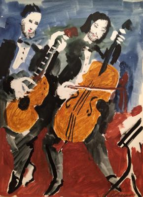 """Vedernikov A. S. """"Musicians"""""""