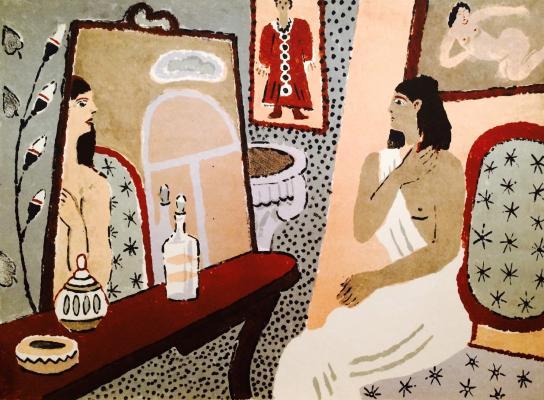 """Vedernikov """"In the Theatre. In front of the mirror."""""""