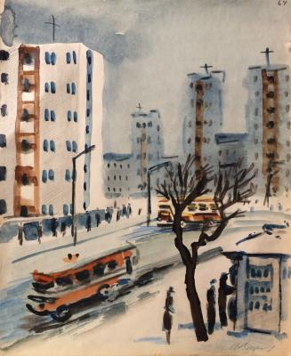 "Vedernikov A. S. ""On the street. Leningrad."""