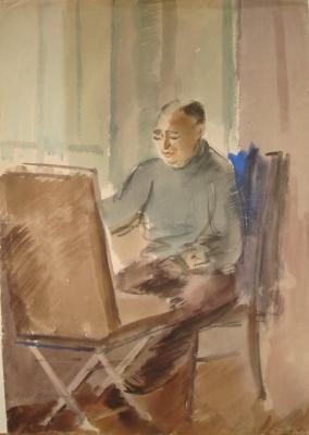 """Vedernikov A. S. """"Portrait of the artist Rusakov"""""""