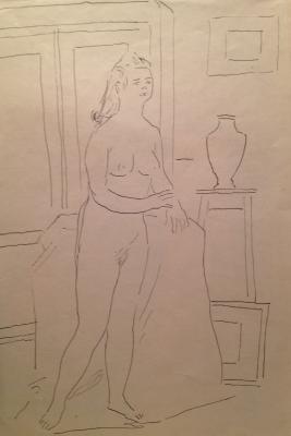 "Vedernikov A. S. ""Nude model ."""
