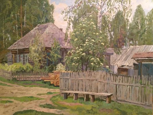 Титов Анатолий Михайлович. Деревенская улица