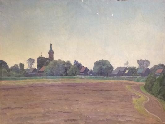 "Titov A. M. ""The village and the church views."""
