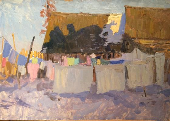 """Titov A. M. """"Bucket. Drying clothes."""""""