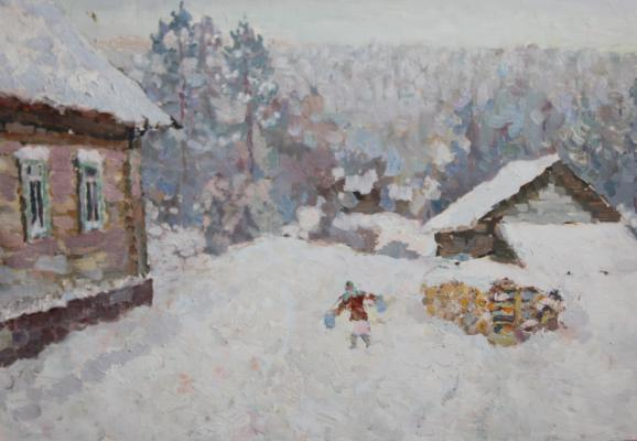 Виноградов Леонид Николаевич. Зимка