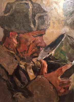"Babitsyn V. A. ""The soldier drinking from the pot"""