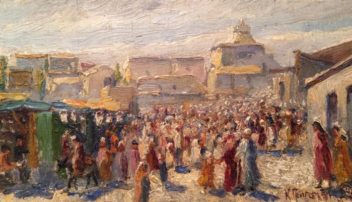 "Grigoryants K. ""Tashkent. Bazar in the old town."""
