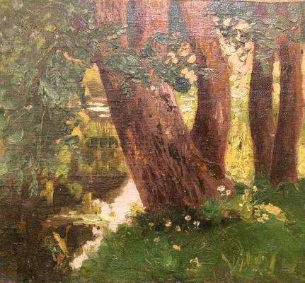 "Grigoryants K. ""Trees near pond"""