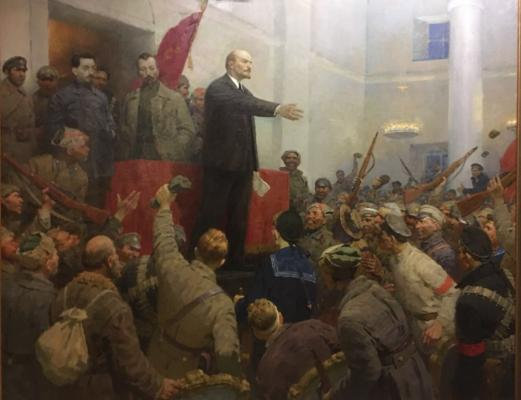 "Kotlyarov L. S. ""Vladimir Ilich Lenin proclaims Soviet power."""