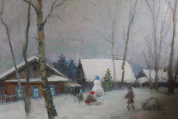 """Rassypnov V. I. """"Snowy winter. Akademichka."""""""