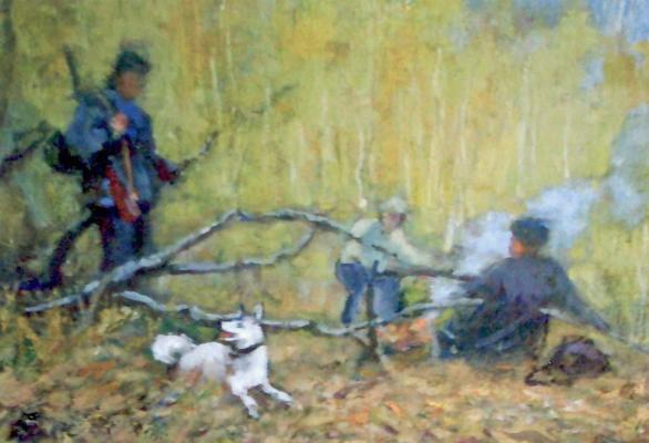 "Rassypnov V. I. ""Hunters campfire"""