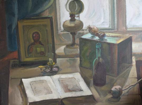 "Bobylev S. Y. ""Still life with an icon and Bible"""