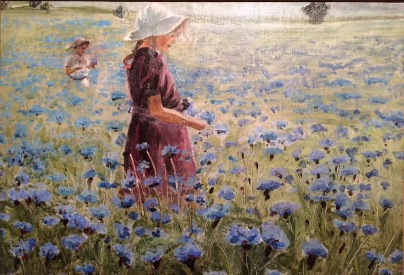"Kostandi K. K. ""Summer. Field of cornflowers."""