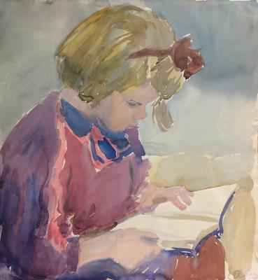 "Afanasyeva Y. A. ""Reading. Portrait of Olga Johanson."""