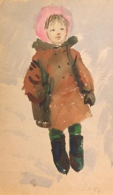 """Afanasyeva Y. A. """"Girl in winter clothes."""""""