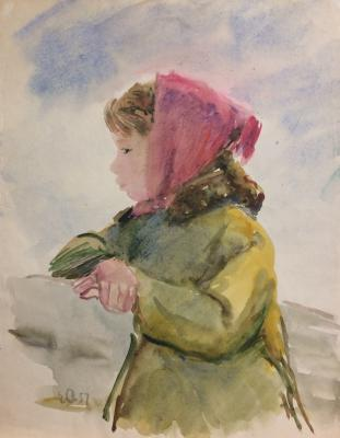 Афанасьева Елена Александровна. Девочка на скамейке.