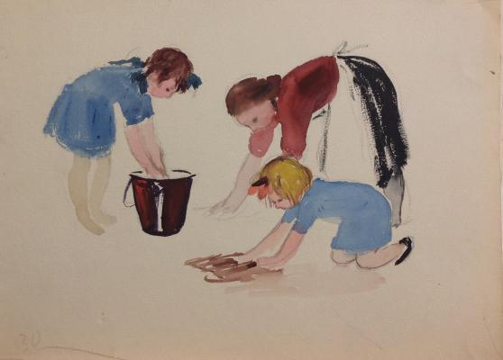 """Afanasyeva Y. A. """"Washing floors."""""""