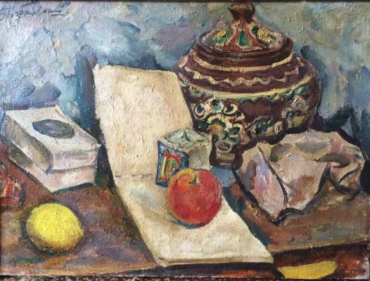 Korzhevsky Boris Georgiyevich - Still-life with lemon and apple.