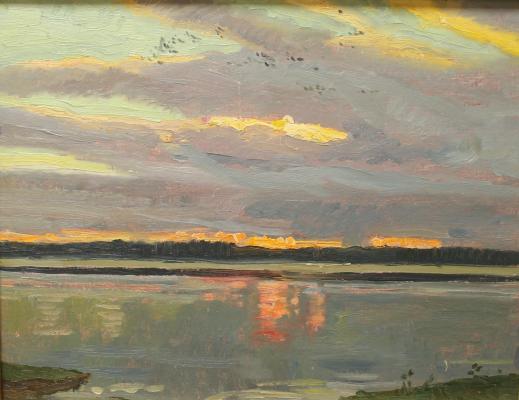 """Shcherbakov V. V. """"A flock of birds on the Volga."""""""