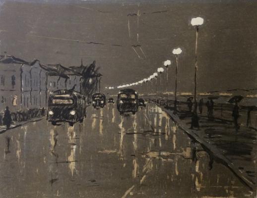 "Matyukh V. F. ""Leningrad. Rain"""