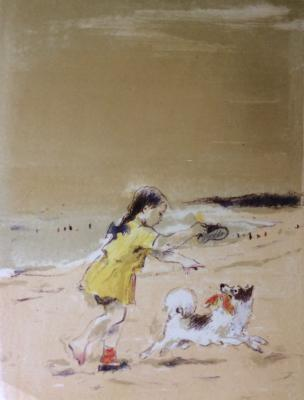 "Matyukh V. F. ""Girl with a dog."""