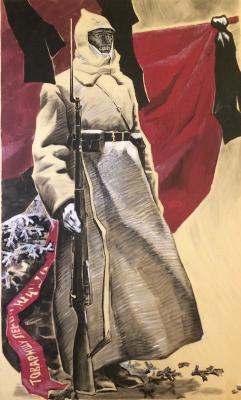 """Ryazanov Y. F. """"Guard of honor."""""""