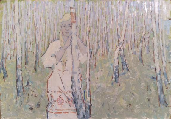 "Danilyuk V. A. ""Among birches."""