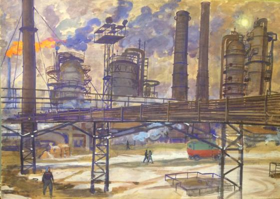 "Yelkin V. N. ""Industrial landscape. Moscow."""