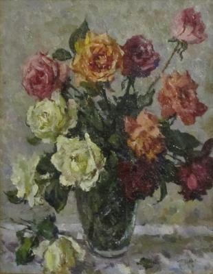 Пускин Дмитрий Иванович. Букет роз
